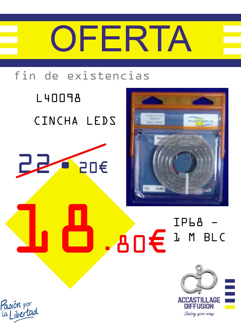 MANTAGUA-CINCHA LEDS IP68 - 1 M BLC