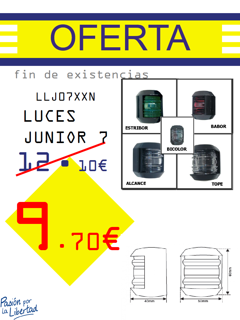 LUCES JUNIOR 07 NEGRO