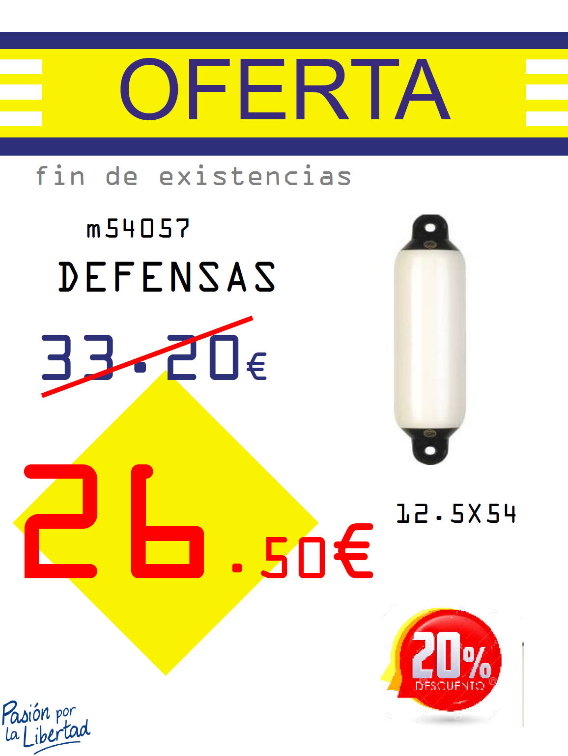 DEFENSAS DAN FENDER 12.5X54