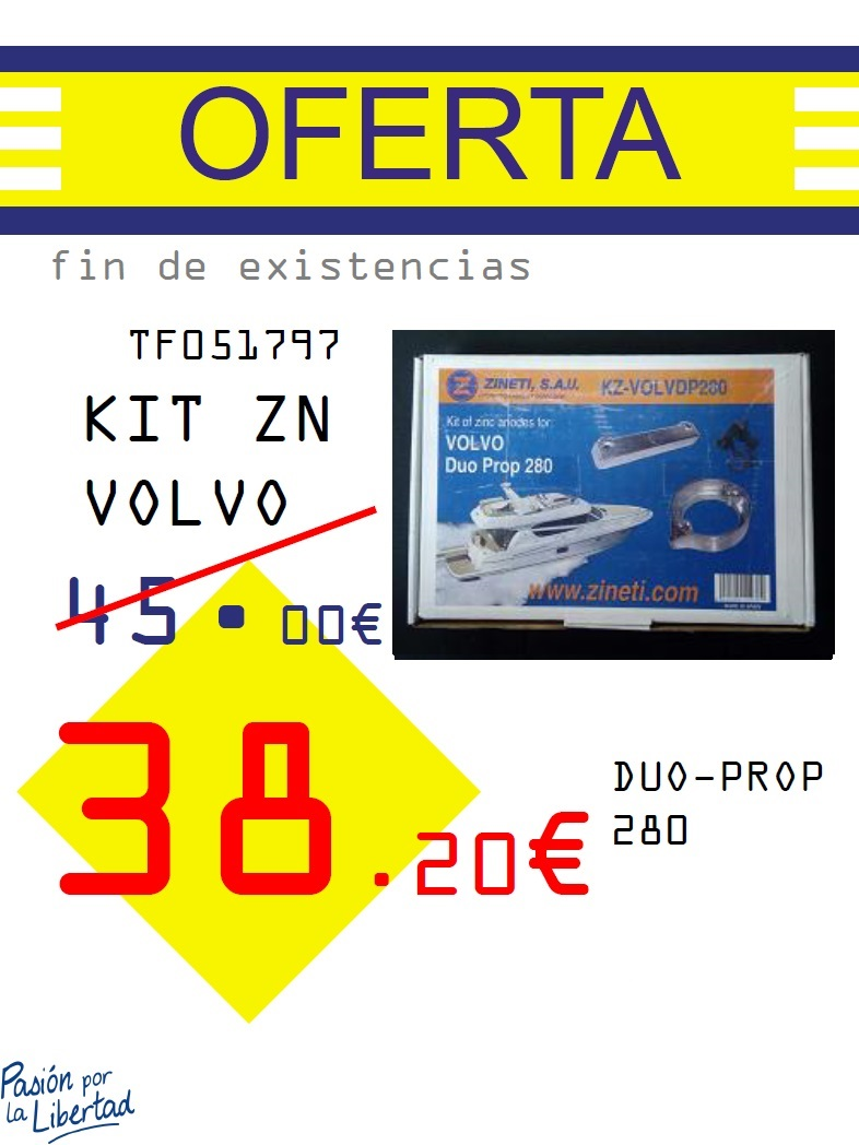 KIT ZN VOLVO DUO-PROP 280