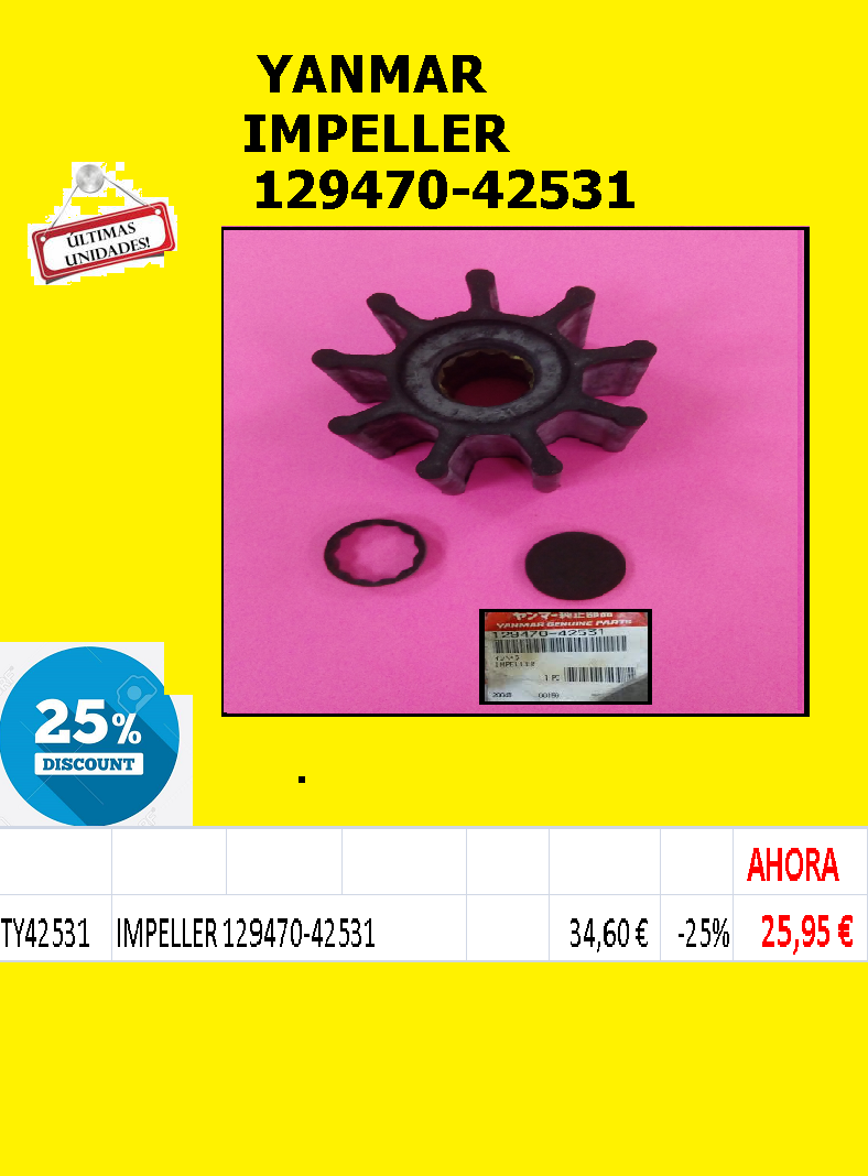 YANMAR -IMPELLER 129470-42531