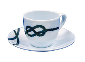 "Coffee cup + saucer ""Pacific "" by 6"