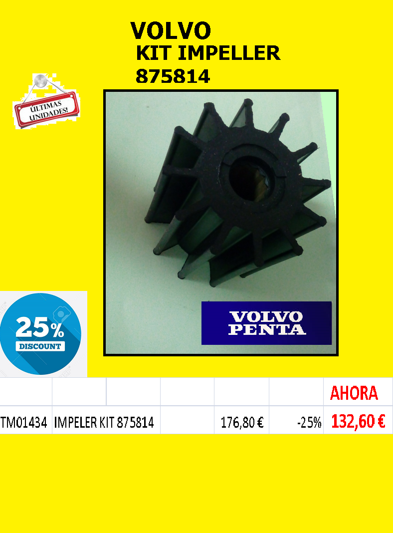 VOLVO-KIT IMPELLER 875814